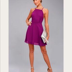 Purple lulus mini dress